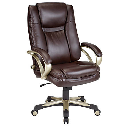 Realspace Btec 600 Big And Tall High Back Chair Brown By