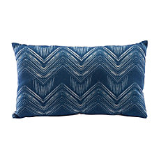 Zuo Modern Ikat Pillow 3 BlueNatural