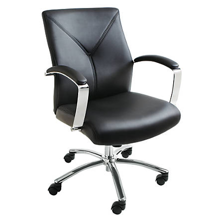 Brenton Studio® Manager Chair, Black/Silver