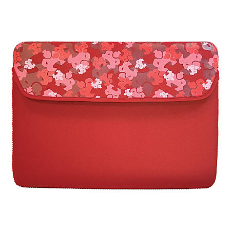 "SUMO Camo iPad Sleeve (Red) - Sleeve - 8.9"" Screen Support - Neoprene - Red"