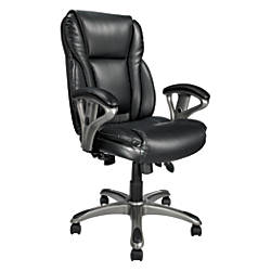 Realspace MFMC400 Bonded Leather Multifunction Managerial