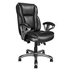Realspace MFMC400 Bonded Leather Multifunction High