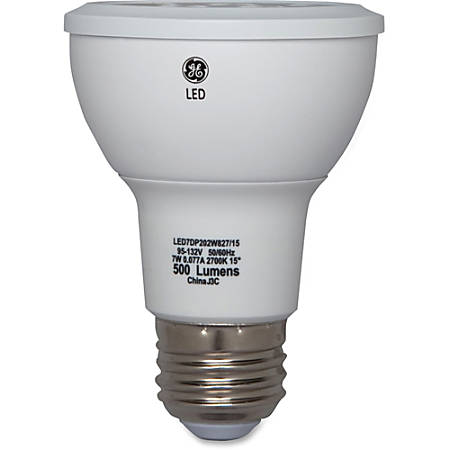 GE Lighting 7-watt LED Light Bulb - 7 W - 3600 cd - White Light Color - E26 Base - 25000 Hour - 4400.3°F (2426.8°C) Color Temperature - 80 CRI - 20° Beam Angle - 6 / Carton