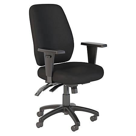 Bush Business Furniture Prosper High Back Multifunction Office Chair, Black Fabric, Premium Installation