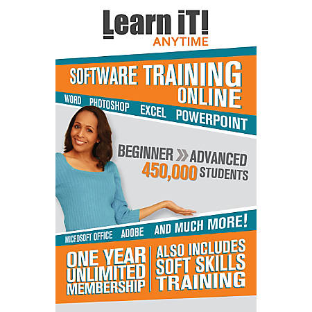 Learn iT! Anytime Online Training, 1 Year Subscription Card