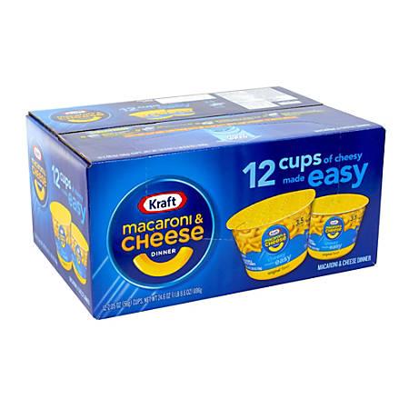 Kraft Foods Mac & Cheese Easy Mac Cups, Pack Of 12