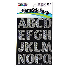 Artskills Gem Alphabet Stickers Large 1
