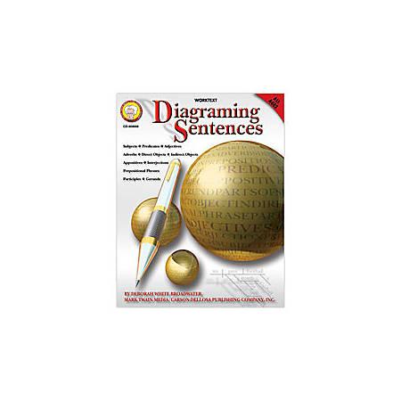 Carson-Dellosa Mark Twain Diagramming Sentences Book, Grades 4-8
