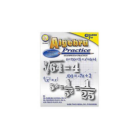 Carson-Dellosa Mark Twain Algebra Practice Book, Grades 7+