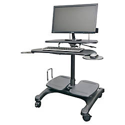 Kantek Sit Stand Mobile Workstation Table