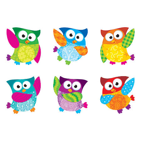 """TREND Mini Accents Variety Pack, Owl-Stars!, 3"""", Assorted Colors"""
