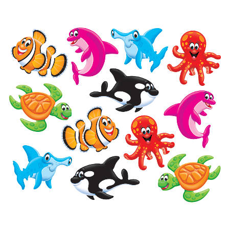 "TREND Mini Accents Variety Pack, Sea Buddies, 3"", Assorted Colors"