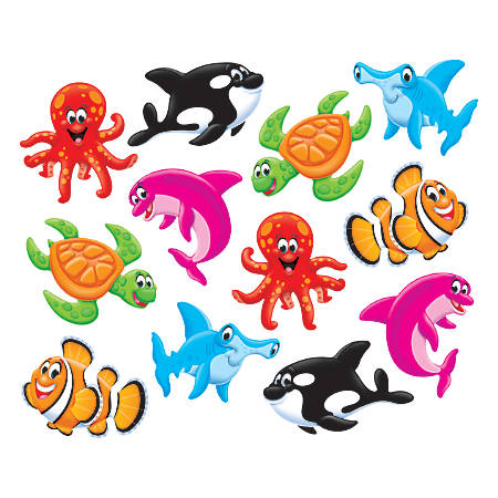 TREND Classic Accents Variety Pack, Sea Buddies, Assorted Colors, Pack Of 36