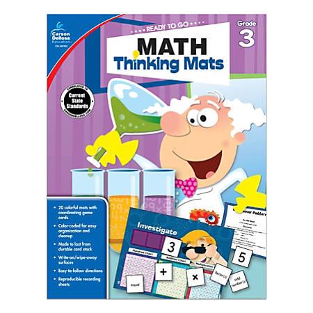 Carson-Dellosa™ Ready To Go Math Thinking Mats Workbook, Grade 3