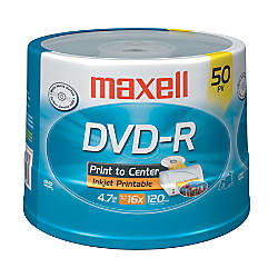 Maxell DVD R Recordable Printable Media