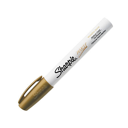 Sharpie® Uni® Paint Marker, Bullet Point, Gold