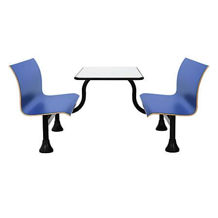 "OFM Retro Bench, 24"" x 48"" Tabletop, 39 1/2""H x 68""W x 48""D, Blue Bench/Black Frame"