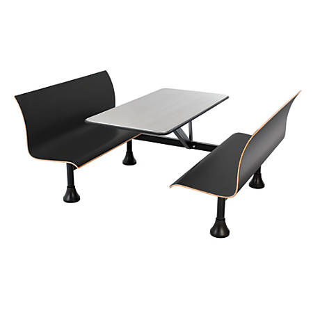 "OFM Retro Bench, 24"" x 48"" Tabletop, 39 1/2""H x 68""W x 48""D, Black Bench/Black Frame"