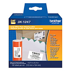 Brother Shipping Label White Paper 180