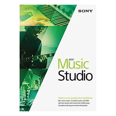 Sony® ACID Music Studio 10, Traditional Disc