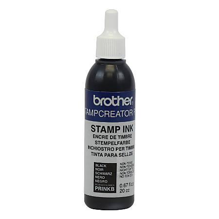Brother® Stampcreator PRO™ Stamp Ink Refill Bottle, 0.67 Oz, Black