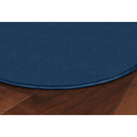 Flagship Carpets Americolors Area Rug, Round, 6', Royal Blue