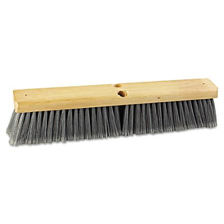 "Boardwalk® Polypropylene Floor Brush Head, 18"", Gray"