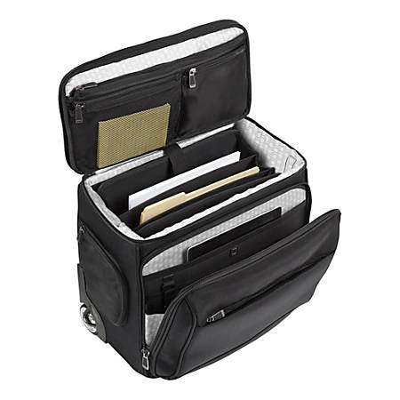 "Ativa™ Ultimate Compact Workmate Rolling Briefcase With 17"" Laptop Pocket, Black"
