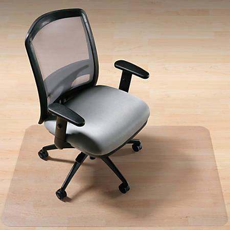 """Deflect-O EnvironMat Chair Mat For Hard Floors, 46"""" x 60"""", Rectangular, Clear"""