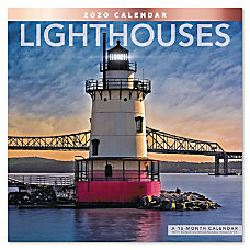 Mead Lighthouses Monthly Wall Calendar 12