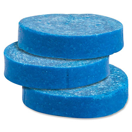 Genuine Joe Non-para Toss Blocks - Non-para Deodorizer, Water Soluble, Acid-free - 144 / Carton - Blue