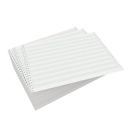 """Domtar Carbonless Continuous Forms, 2-Part, 14 7/8"""" x 11"""", White, Carton Of 1,700 Forms"""