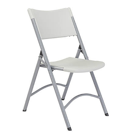 National Public Seating Series 600 Folding Chairs, Gray/Textured Gray, Pack Of 4 Chairs
