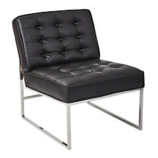 Ave Six Anthony Guest Chair BlackChrome