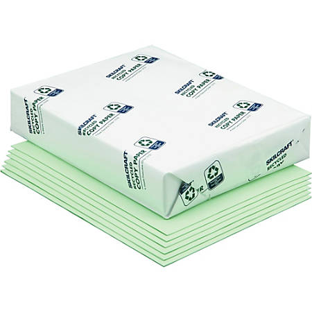 SKILCRAFT® Color Xerographic Paper, Letter Size, Green, 500 Sheets Per Ream, Case Of 10 Reams (AbilityOne 7530-01-147-6812)