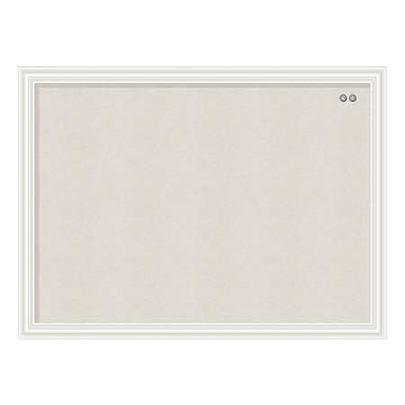 "U Brands Linen Bulletin Board, 24"" x 18"", White Frame"