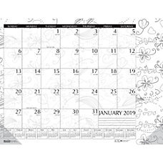House of Doolittle Doodle Monthly Desk