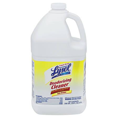 Reckitt-Benckiser Lysol Disinfectant Deodorizing Cleaner, Lemon Scent, 1 Gallon Bottle, Liquid