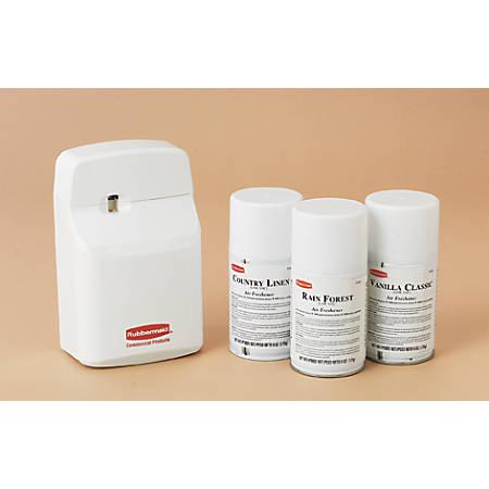 Rubbermaid Sebreeze Aerosol Odor Control System, 4-3/4-in w x 3-1/8-in d x 7-1/2-in h