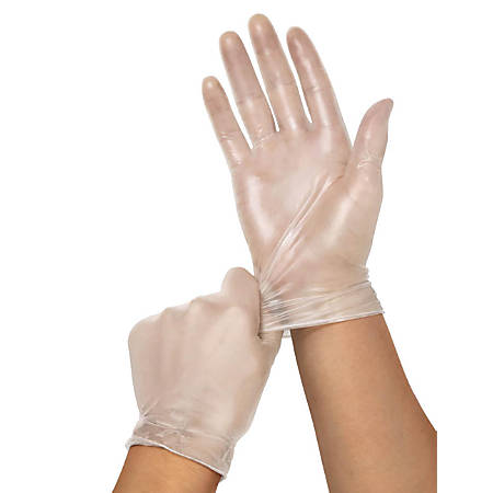 Clear-Touch Powder-Free Vinyl Multipurpose Gloves, Medium, Clear, 150 Gloves Per Box, Case Of 10 Boxes