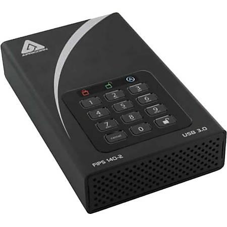 "Apricorn Aegis Padlock DT FIPS ADT-3PL256F-3000 3 TB Hard Drive - 3.5"" Drive - External - Desktop"