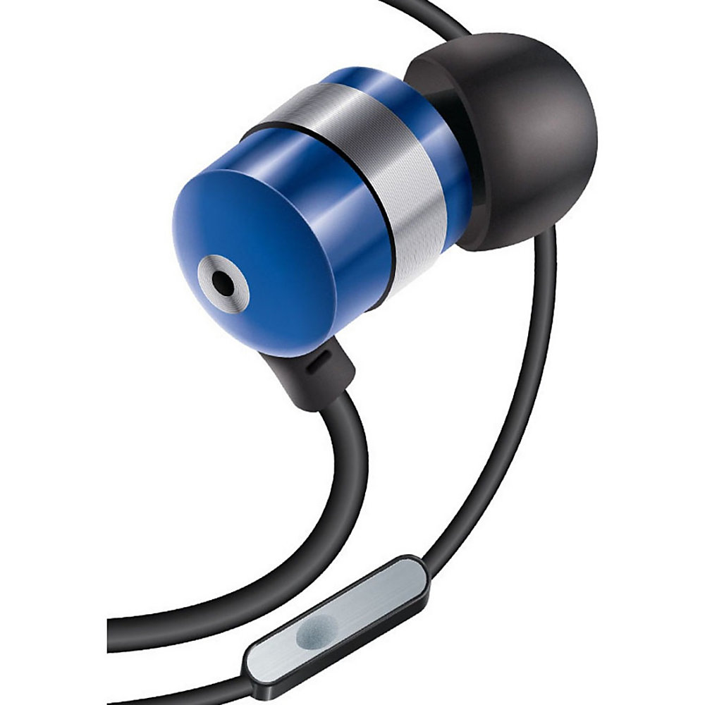 Equipped with SonusMAX Technology, the power GOgroove AudiOHM HF earphones deliver clear highs and deep base. The headphones also boast a hands-free microphone and come in blue for a stylish look.  Features a gold-plated connector that provides optimal connectivity for home stereo equipments.  In-ear earphones for comfortable listening.  Hear music from your favorite musicians with these earbuds.  Listen to distinct sounds from both the speakers in stereo sound mode.  Listen to deep lows and euphoric highs with a frequency range of sound from 20 Hz to 20 kHz.  Mini-phone (3.5mm) connector provides versatile and secure connectivity.  Select music and videos on your portable devices and answer your phone calls with the in-line microphone.