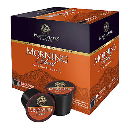 Parry Estates Kona Morning Blend K-Cup® Pods, 0.39 Oz, Box Of 18 Cups