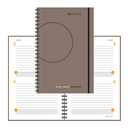"AT-A-GLANCE® Undated Planning Notebook, 6"" x 9"", Gray"