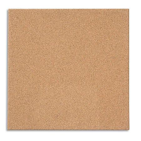 "Quartet® Cork Tile Modular Bulletin Board, 17"" x 17"", Frameless"