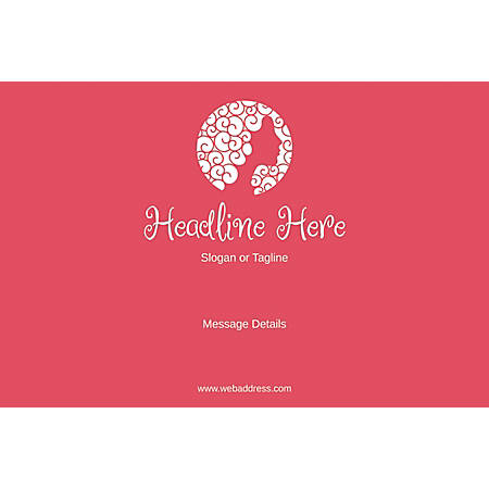 Adhesive Sign, Pink Beauty, Horizontal