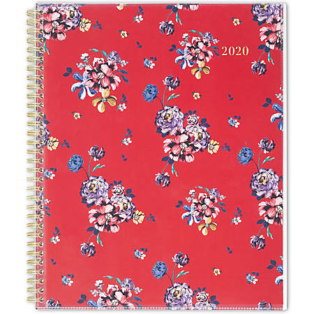 """Cambridge® Rouge Customizable Weekly/Monthly Planner, 8-1/2"""" x 11"""", Multicolor, January to December 2020, 1264-901"""