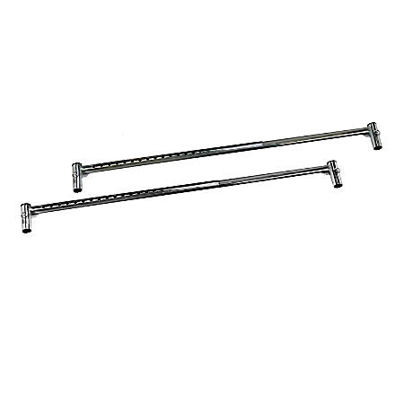 DMI® Metal Bed Rail Extension Bars, Silver, Pack Of 2