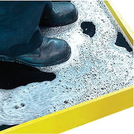 Crown Mats Disinfectant Boot Bath Mat 32 X 39 Blackyellow