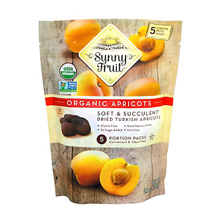 SUNNY FRUIT Organic Dried Turkish Apricots, 8.8 oz, 3 Pack